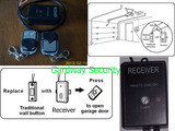 Universal Wireless Receiver Module & Remote keyfob Control DIY Kit DC/AC12V~24V